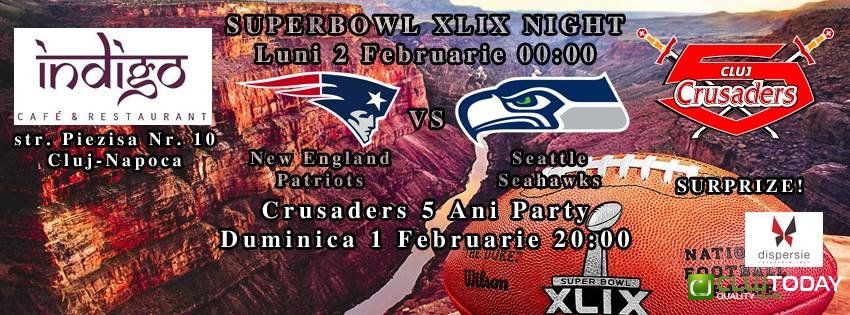 Superbowl XLIX Night and Crusaders Party