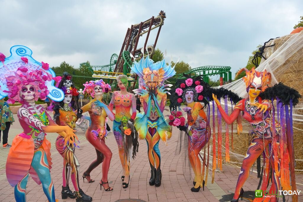AMAZING VIDEO: The masterworks created by the Italian Champions of BodyPainting amazed visitors of the opening day of Gardaland Magic Halloween